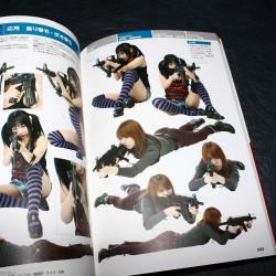 How to Draw Manga Book / Gun Pistol Rifle and Knife