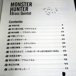 Monster Hunter Brass Quintet Official Music Score Book
