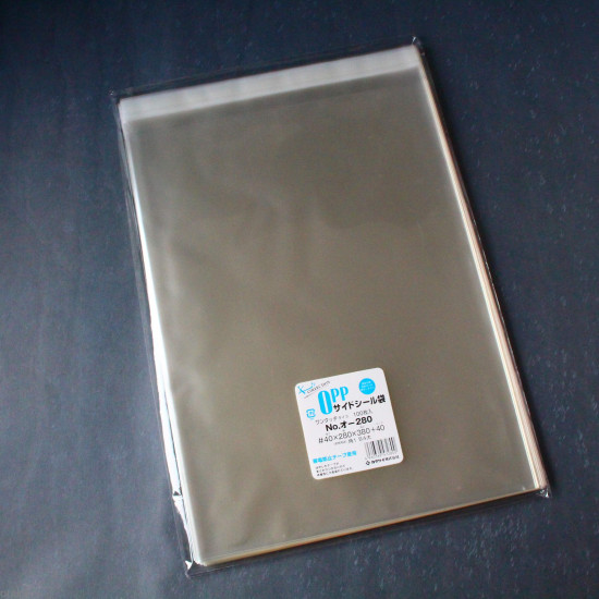 Clear OPP Plastic Sleeves - Sealable - For Books - 280 x 380 mm size