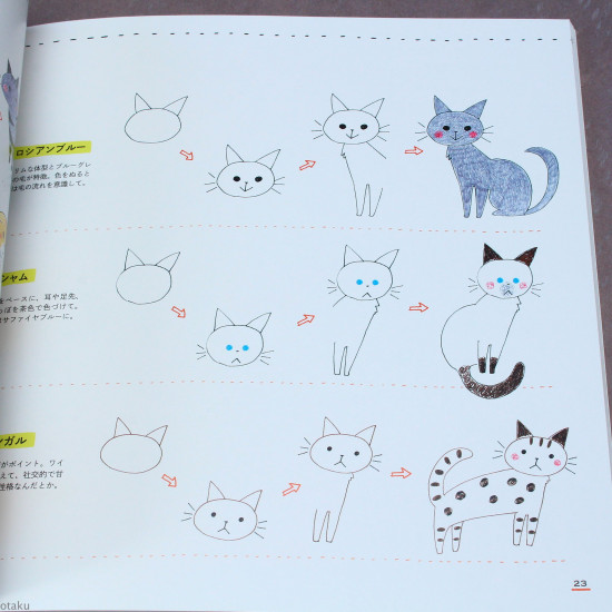 Cat Ballpoint Pen Illustrations - New Edition