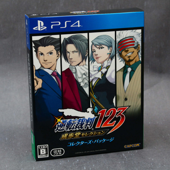 Ace Attorney 123 Naruhodo Selection collectors package PS4 Japan