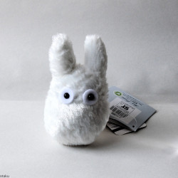 Totoro White Fluffy Plush S