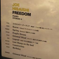 Joe Hisaishi Freedom Piano Score Book