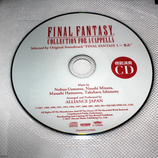 Final Fantasy - Collection for A Cappella - Music Score with CD